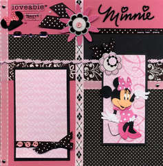 Minnie Hot Pink and Black Left Page