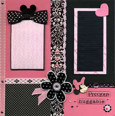 Minnie Hot Pink and Black Right Page