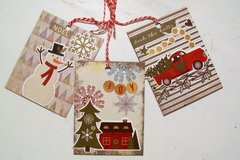 Set of 3 Tags Christmas