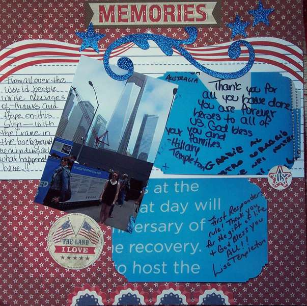 Memories pg 2 of America the Beautiful.