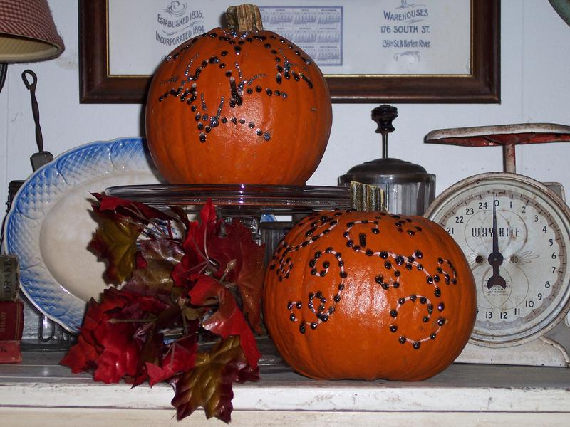 Pumpkin Art  with Stickles....!!!!!