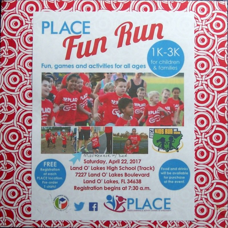 PLACE fun run!