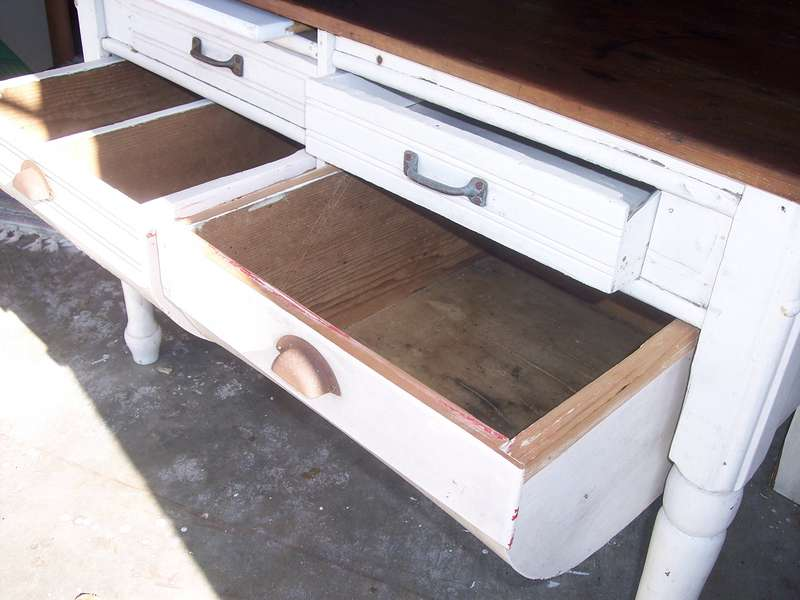 Bakers table...1  open drawers