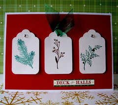 Deck the Halls card