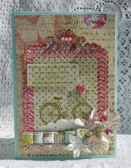 New Prima Rasberry Tea & Shabby Chic Card
