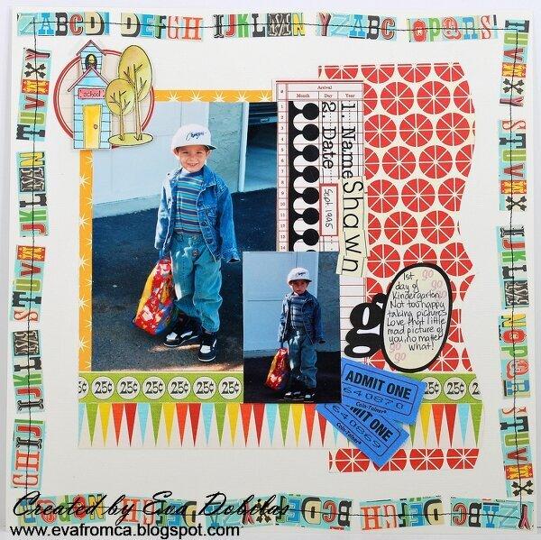 1st day of Kindergarten - Urban Anthology Sept.
