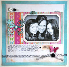 Mother's Day Scrapbook Layout