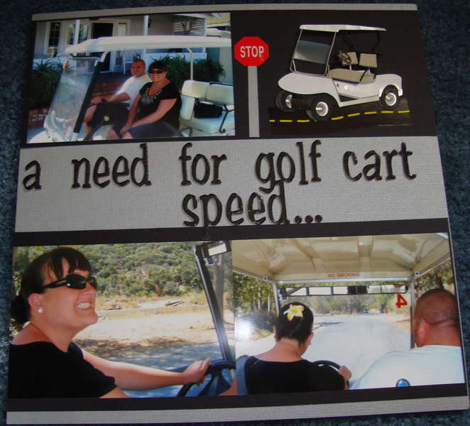 A need for golf car speed...