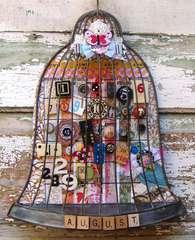Bird Cage Perpetual Magnetic Calendar Basic Grey Challenge