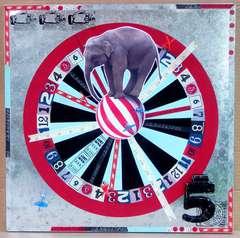 Circus Carnival Elephant Magnetic Dart Board