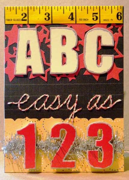 Twisted Card #036 ALPHABET Teacher Appreciation