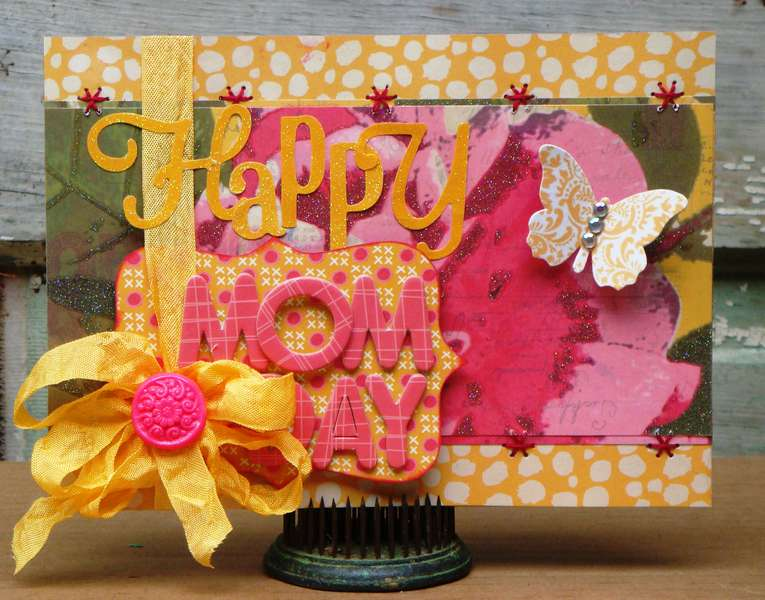 """Twisted Card #056 """"YELLOW"""" Happy Mother's Day Card"""