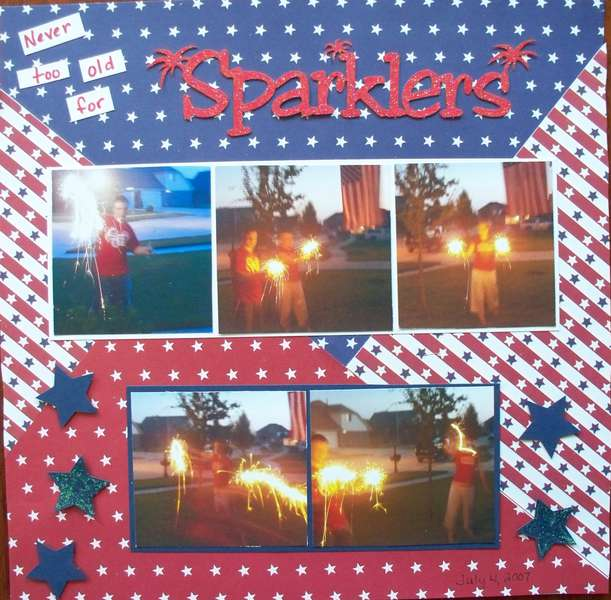 never too old for sparklers