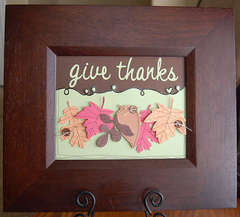 framed give thanks...