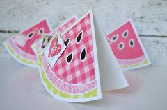 Watermelon Shaped Card Set
