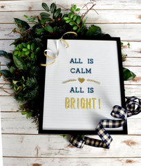 all is calm | festive holiday letter board