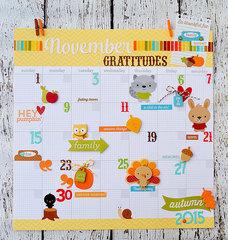 November Gratitude Calendar Page