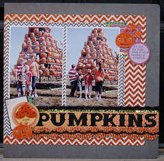 stacked pumpkins...