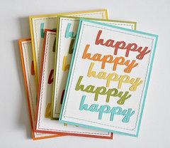 happy, happy, happy card set