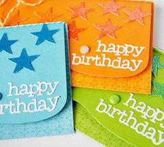 ombre glitter star card set | doodlebug design
