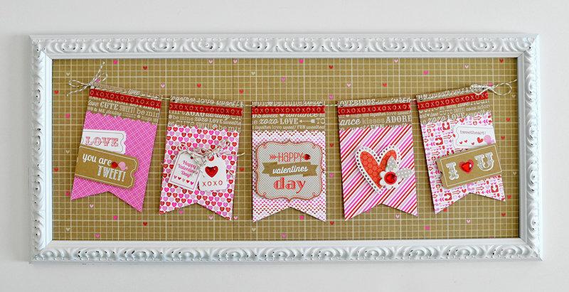 valentine's day framed banner | doodlebug design...