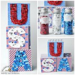 USA Sequin blocks | Doodlebug Design