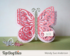 butterfly shaped card...