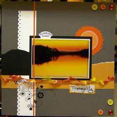 Tranquilty - Oct sketch week 1 challenge-orange used