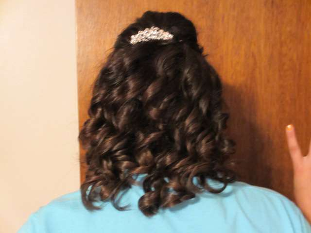 Kelie's hair for Homecoming