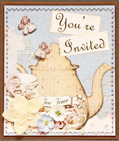Tea Party Invitation ~Donna Salazar Designs~