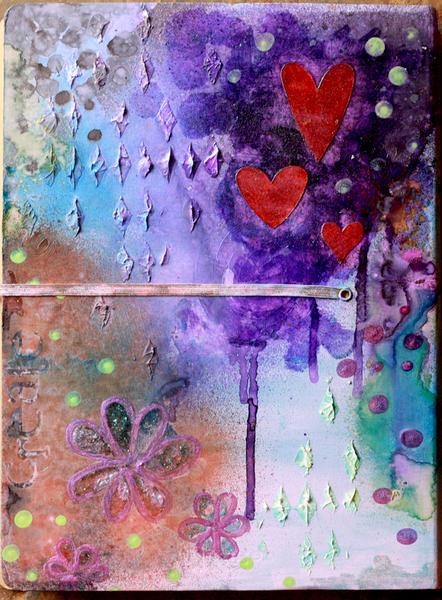 Mixed Media Art Journal ~Scraps of Darkness~