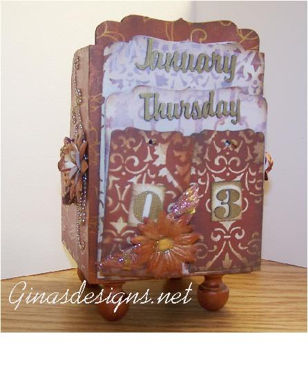 DT project 1 for Gina�s Designs Perpetual Calendar