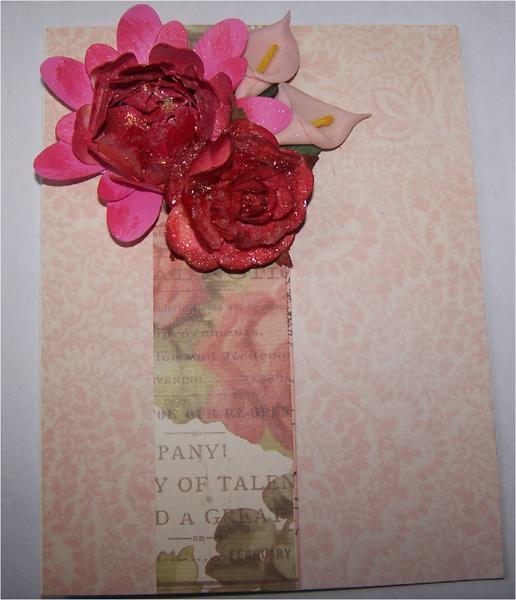 Red and Pink flower Card