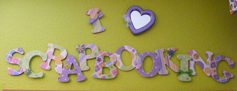 Scrapbooking Sign