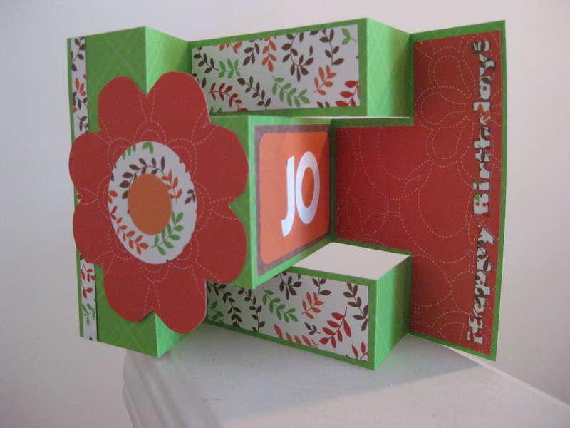 Tri-fold card for SIL B-day