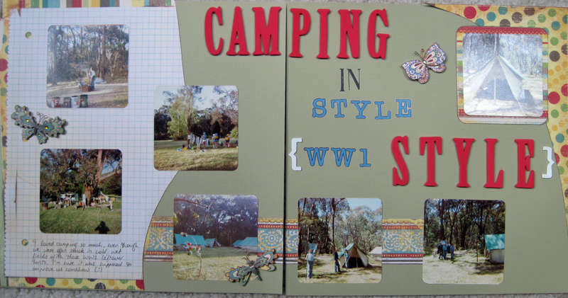 Camping in World War 1 Style