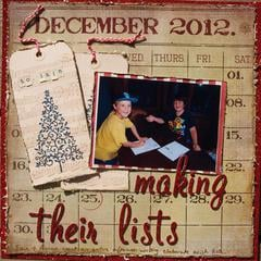 Making Their lists