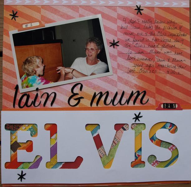 Iain and Mum love Elvis