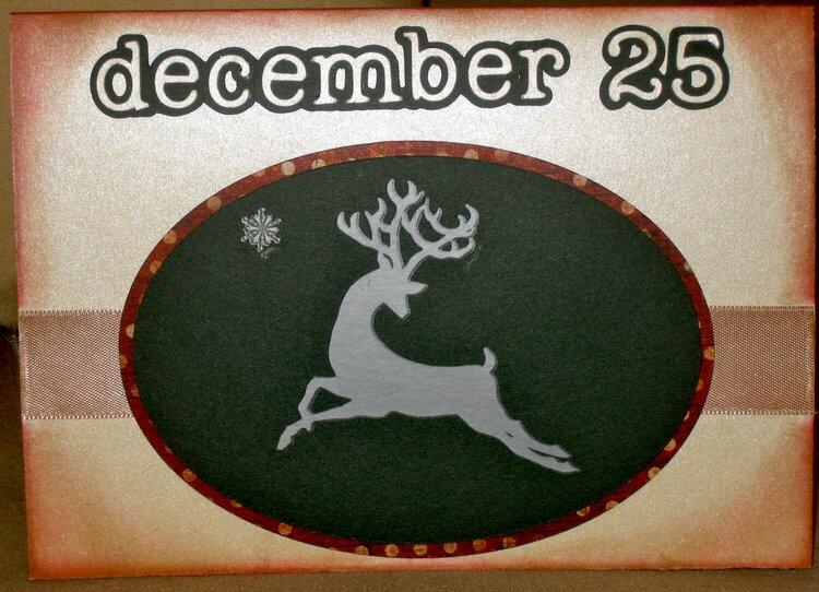Reindeer Dec 25th Card