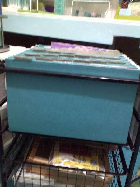 Rolling file storage that slides under desk