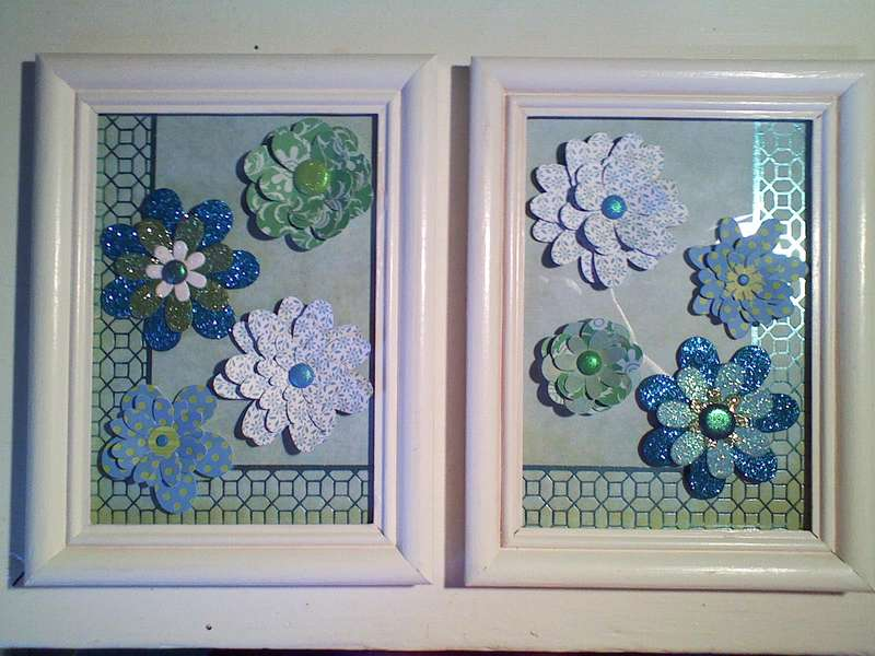Flowers in frames.