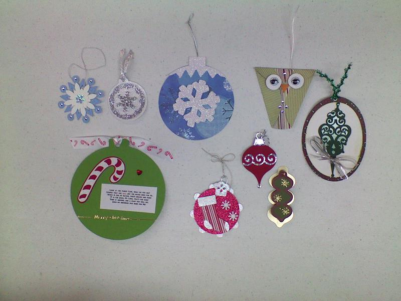 Christmas Ornament Exchange for a Scrapbook Page