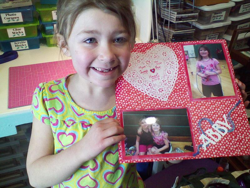 Grandaughter Abby with Jump for Heart Page