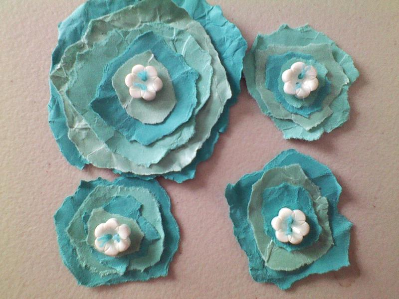 Card stock paper flowers