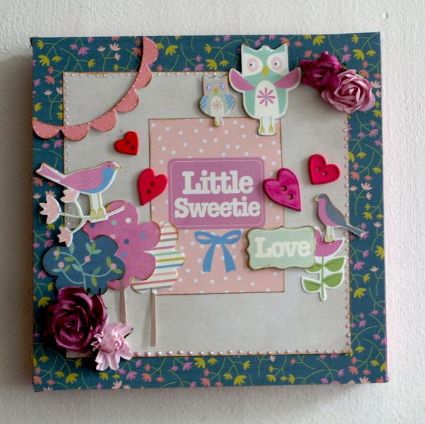Little Sweetie canvas *new Kaisercraft*