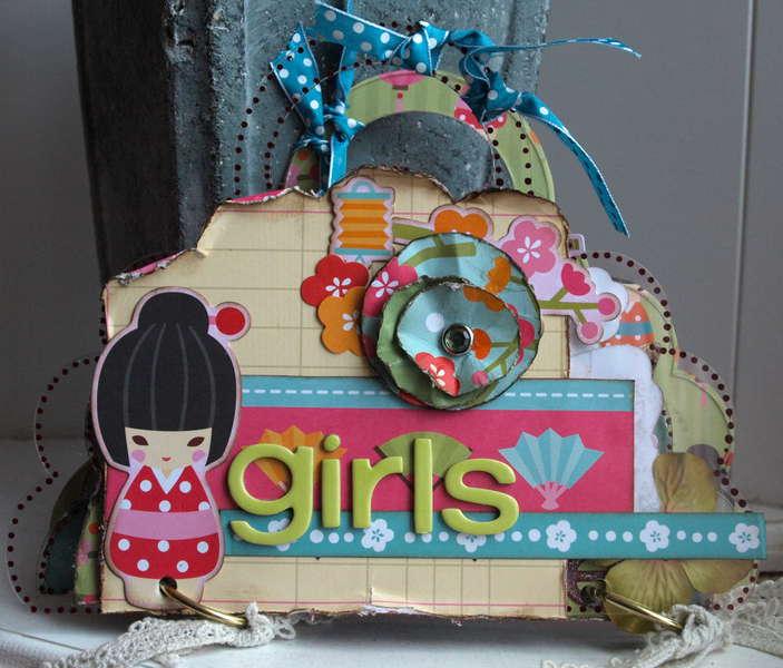 Girls mini album *New My Little Shoebox & Clear Scraps*