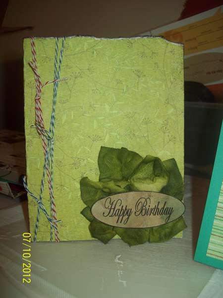 """Green"" Birthday card"