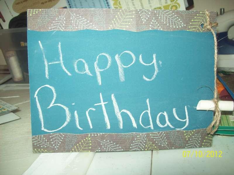 Chalkboard paper card