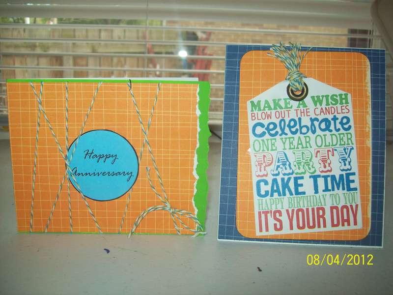 Anniversary/birthday cards