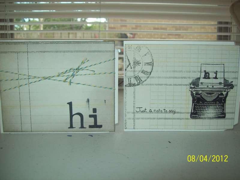 """Hi"" Cards"